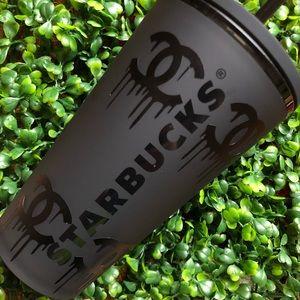 Matte black Starbucks cup